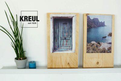Bilder mit Foto Transfer Potch auf Holz übertragen