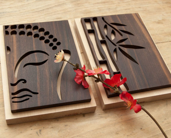 Zen-Bilder aus Massivholz
