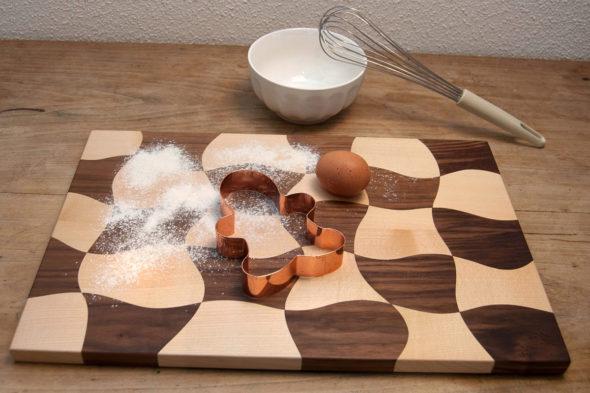 Küchenbrett aus zwei Holzarten – Projekt für die Feinschnitt-Bandsäge