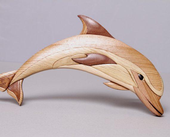 Delfin-Intarsie