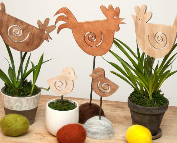 Familie Huhn wartet auf den Frühling