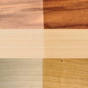 Massivholz-Set rustikal | Nussbaum-Ahorn-Eiche
