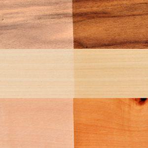 Massivholz-Set rustikal | Nussbaum-Linde-Kirschbaum