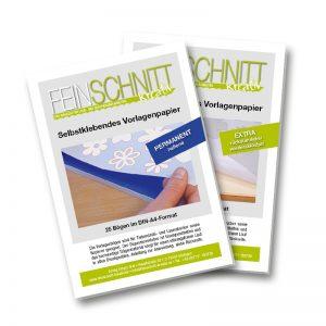 Selbstklebendes Vorlagenpapier | permanent haftend | wiederablösbar