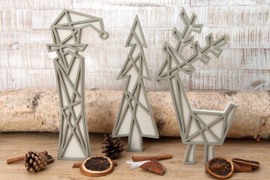 Origami Weihnachtsfiguren