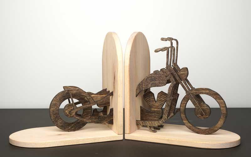 Buchstütze Motorrad