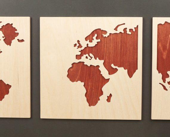 In 80 Tagen um die Welt – Stilisierte Weltkarte