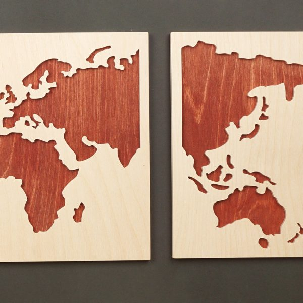 Laubsägevorlage Stilisierte Weltkarte