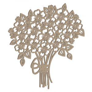 Laubsägevorlage Blumenstrauß