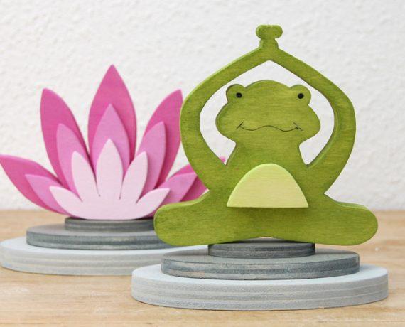 Meditationsstunde – Sommerliche Frosch-Deko