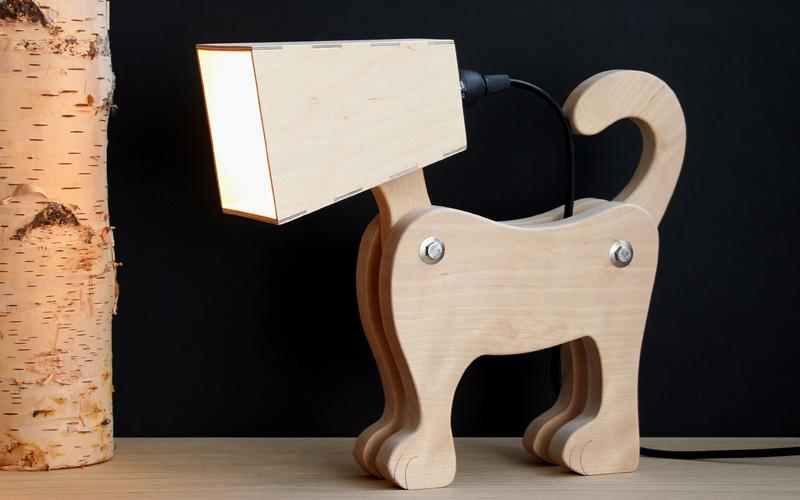 Laubsägeprojekt Lampe in Hundeform