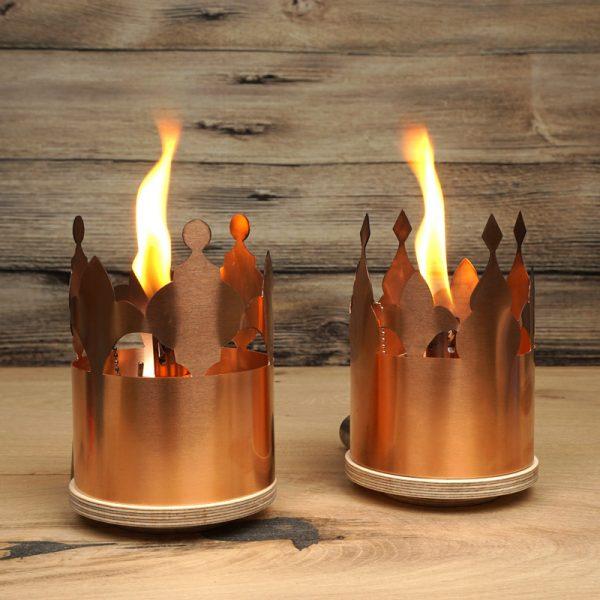 DIY-Idee für Tischfackel mit Öllampen-Einsatz aus Edelstahl