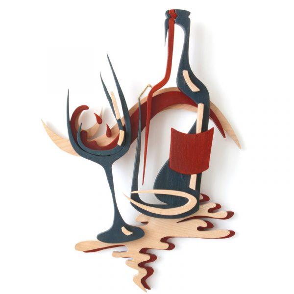 Laubsägevorlage Weingenuss | Wandbild
