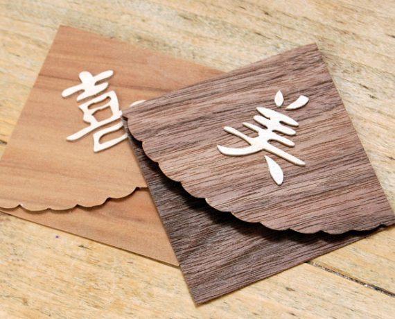 Buchecken aus Furnierpapier