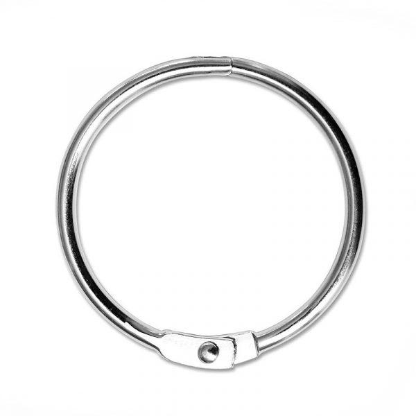 Verbindungsringe für Ringbücher aus vernickeltem Stahl, 37 mm Durchmesser