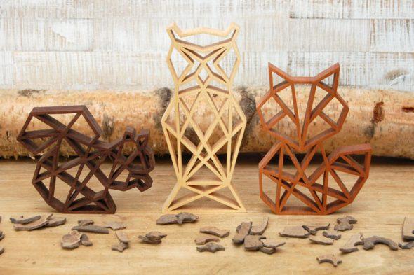 Geometrische Waldfiguren