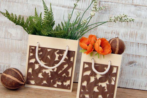 Herbsttaschen aus Holz