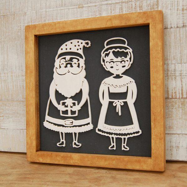 Laubsägevorlage | Weihnachtsdeko | Mr. & Mrs. Santa