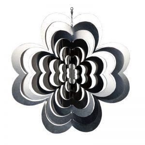 Windspiel Metall | Kleeblatt