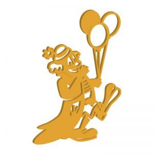 Laubsägevorlage Clown-Figur mit Luftballons