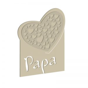 Herz-Deko mit Papa-Schriftzug | Digitale Laubsägevorlage