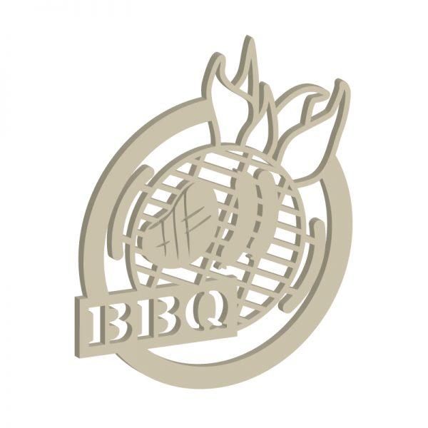 Laubsägevorlage BBQ-Dekoschild