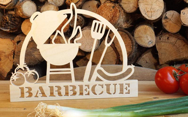 Laubsägeprojekt Deko-Schild Barbecue