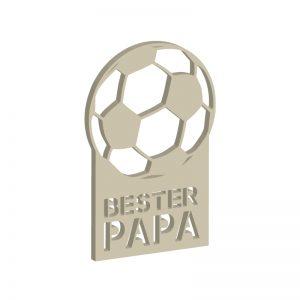 """Laubsägevorlage Fussball-Pokal mit Schriftzug """"Bester Papa"""""""