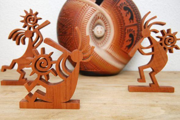 Kokopelli-Figuren