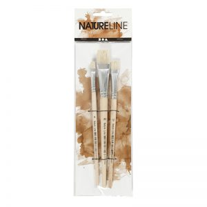 Nature Line Pinsel-Set flach
