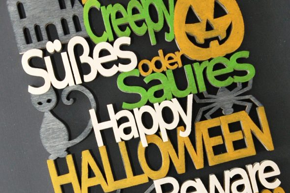 Wörterspuk – Halloweendeko