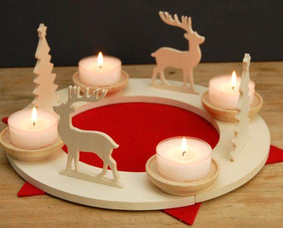 Weihnachtswald – Adventskranz