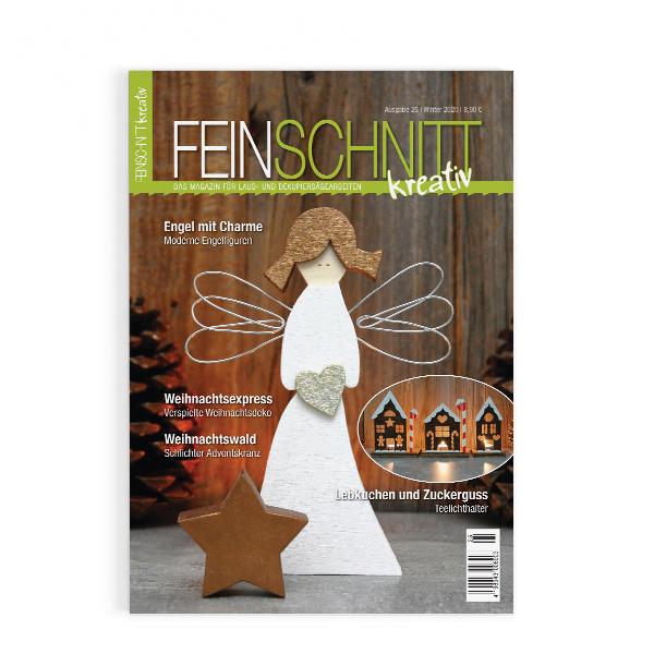 Winterausgabe 25 von FEINSCHNITTkreativ | Laubsägevorlage für den Winter und Weihnachten