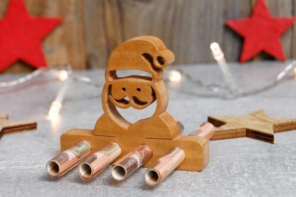 Weihnachtsgeld – Geldgeschenk aus Holz