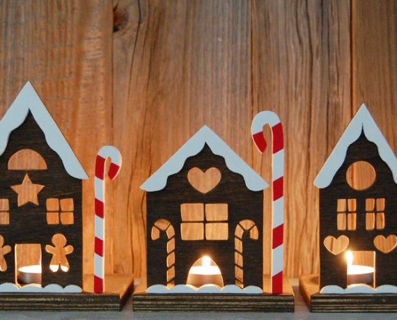 Lebkuchenhäuser aus Holz