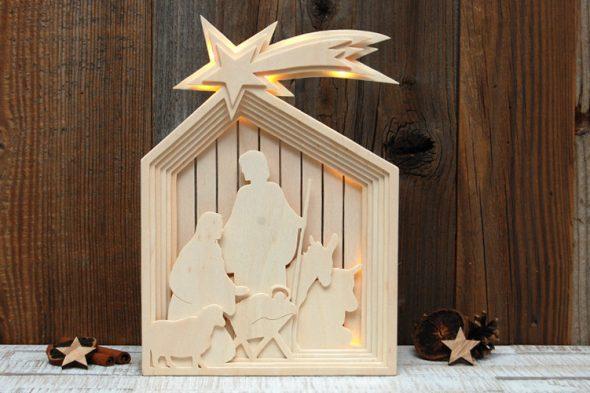Stall von Bethlehem – Krippe mit Beleuchtung