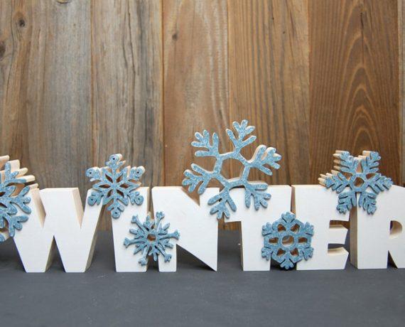 Winterfrost – Winter-Schriftzug