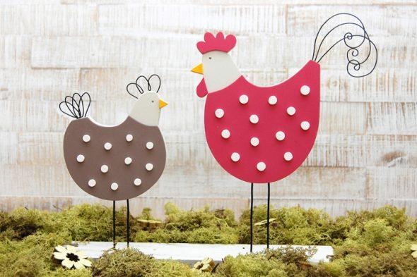 Hühner im Landhausstil
