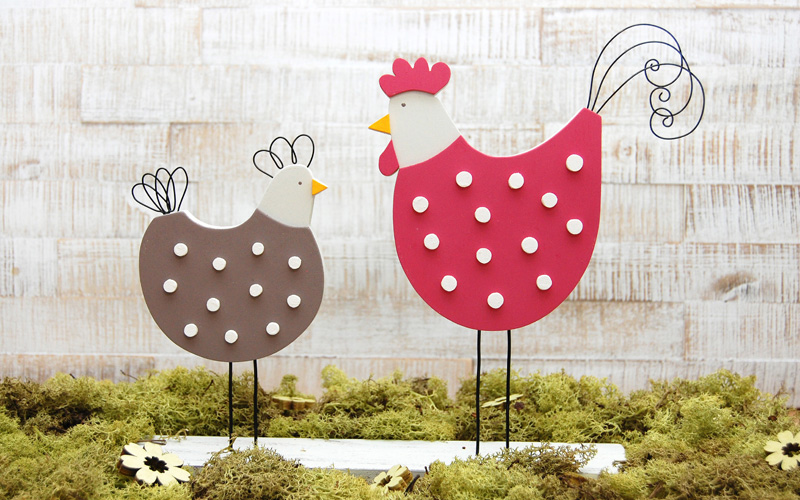 DIY-Projekt Hühner im Landhausstil