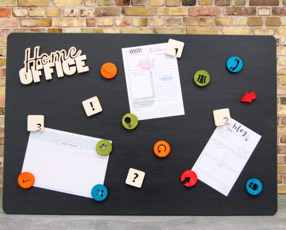 Magnetboard – Organisation im Homeoffice