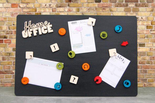 Magnetboard – Organisation im Homeoffice