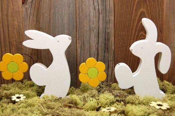 Blumenboten – Osterhasen-Deko