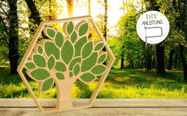 Lebensbaum mit Moosfüllung | DIY-Anleitung für natürlichen Wandschmuck