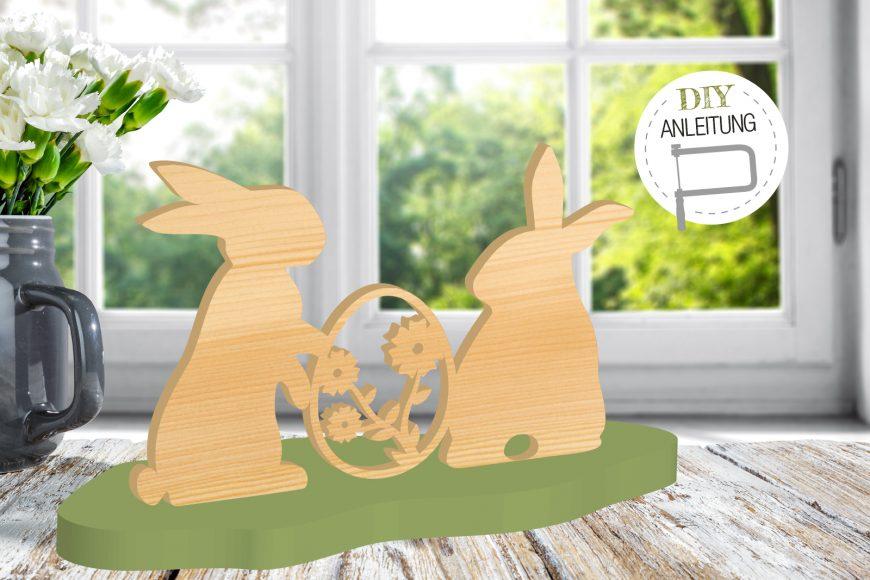 Hasen mit Osterei   DIY-Anleitung für die Laub- und Dekupiersäge