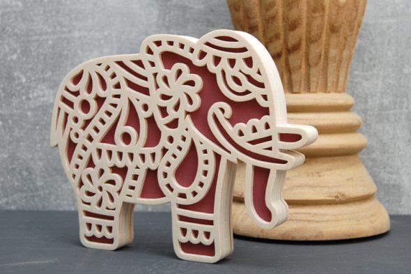 Mandala-Elefanten