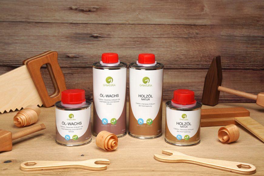 Oberflächengestaltung von Laubsägearbeiten mit Holzöl